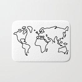 world globe Bath Mat