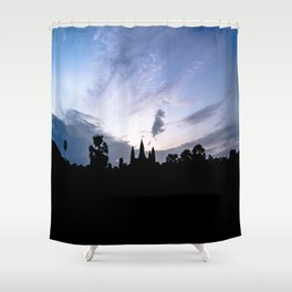 Angkor Wat at Sunrise I, Cambodia Shower Curtain