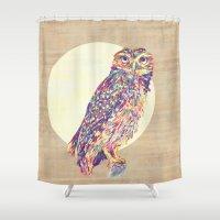 owl Shower Curtains featuring Owl  by Jacqueline Maldonado