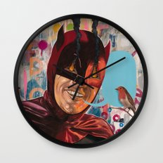 Caped Crusader by Famous When Dead Wall Clock