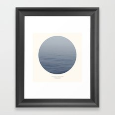 You can't cross the sea Framed Art Print