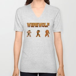 Unleash the beast- werewolf tribute Unisex V-Neck