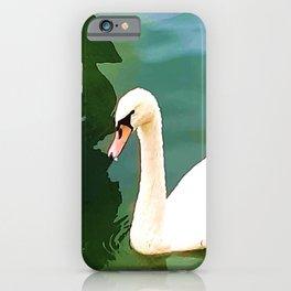 Duck in the water 2. duck. ducks. swan. swans. sea. beach.  iPhone Case