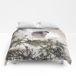 Fly-away Tufted Titmouse Comforters