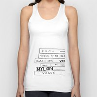 vogue Tank Tops featuring vogue forever by ElisaGabi