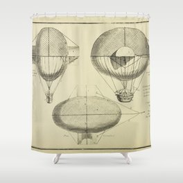 Mathieu's Airship Project Shower Curtain