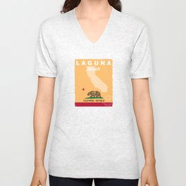 Laguna Beach California. Unisex V-Neck