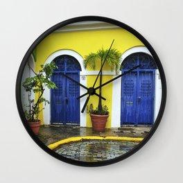 old San Juan, historic distric Puerto Rico Wall Clock