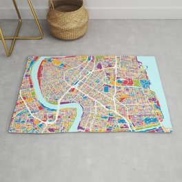 New Orleans Street Map Rug