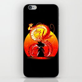 Silhouette of Goku Design iPhone Skin