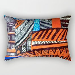 A City View Rectangular Pillow