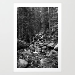 Mountain Creeks Art Print