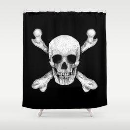 Jolly Roger Pirate Skull Flag Shower Curtain