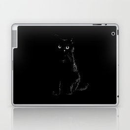 Black black cat in a black black room Laptop & iPad Skin