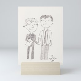 the first day of art school Mini Art Print