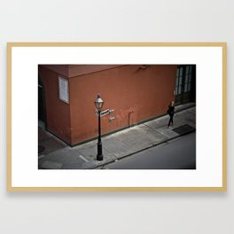 Down Dauphine Framed Art Print