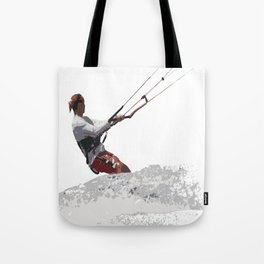 Kiteboarding Lets Go Fly A Kite Vector Tote Bag