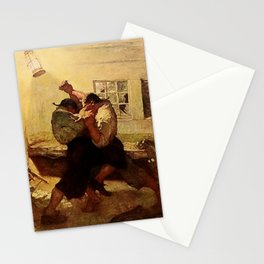 """""""The Fight in the Cabin"""" by NC Wyeth Stationery Cards"""