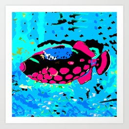 Clown Trigger Fish Art Print