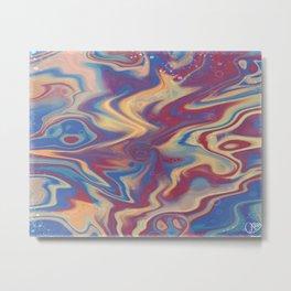 Cosmic - IbisPaint Acyrlic Pour w/ Cells Metal Print