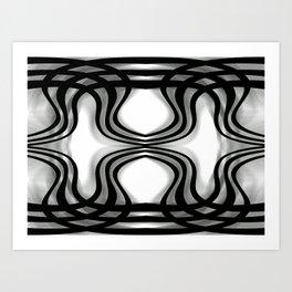 Nobel Squiggly Lines Art Print