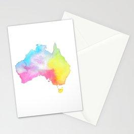 Australia   Map Illustration Stationery Cards