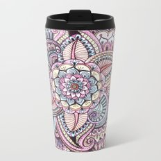 Henna Style Pattern Metal Travel Mug