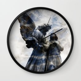 Cemetery Angles with Marble Sky Wall Clock
