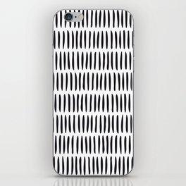 Classy Handpainted Stripes Pattern, Scandinavian Design iPhone Skin