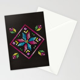 Neon Embroidery Stationery Cards