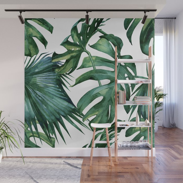 Simply Island Palm Leaves Wall Mural