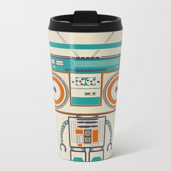 Music robot Metal Travel Mug