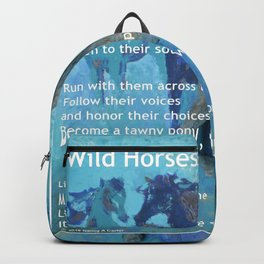 Wild Horses: Poem and Painting Backpack