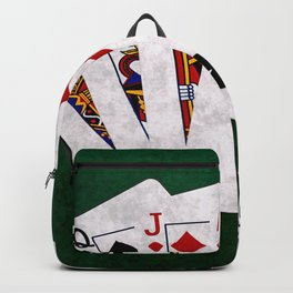 Poker Hand Straight King Queen Jack Ten Nine Backpack