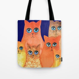 Annapolis Whimsical Cats Tote Bag