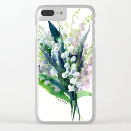 Lilies of the Valley Clear iPhone Case