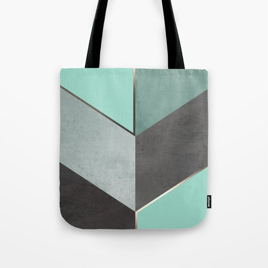 Chevron Geometric 1 Tote Bag