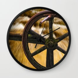 old locks wheel Wall Clock