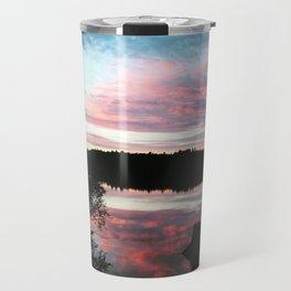 Pink Skies at Night Travel Mug
