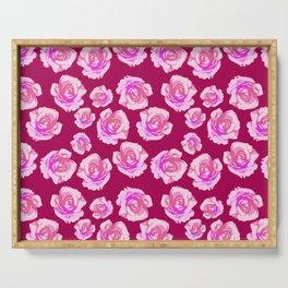 Blushing Roses Serving Tray