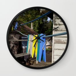 Hang your own laundry Wall Clock