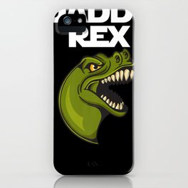 Mens Daddy Rex TREX Dinosaur Shirts  Daddy Fathers Day iPhone Case