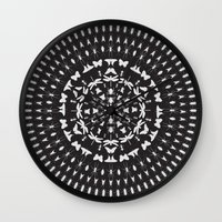 insect Wall Clocks featuring Insect Mandala by Thomas Terceira