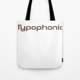 Typophonic logo Tote Bag