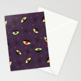 Reptile witch eyes pattern Stationery Cards
