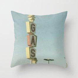 Vintage Gas Throw Pillow
