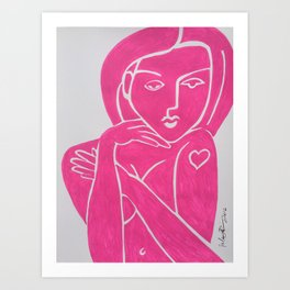 Pretty in PINK TATTOO - Painting by Erod Art Print