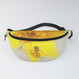Pretty Yellow Painted Fanny Pack