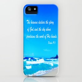 Psalm 19 iPhone Case