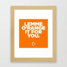 O'range Framed Art Print